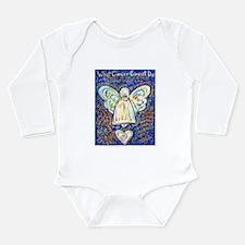 Blue & Gold Cancer Ang Long Sleeve Infant Bodysuit