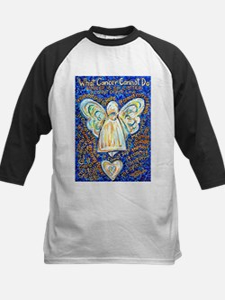 Blue & Gold Cancer Angel Tee