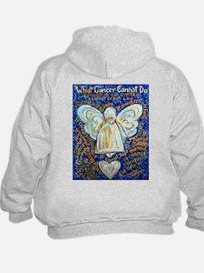 Blue & Gold Cancer Angel Hoodie