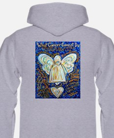 Blue & Gold Cancer Angel Hoodie
