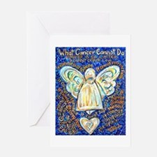 Blue & Gold Cancer Angel Greeting Card
