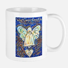 Blue & Gold Cancer Angel Mug
