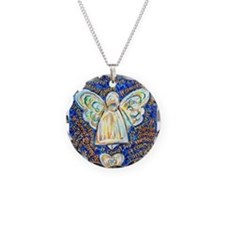 Blue & Gold Cancer Angel Necklace