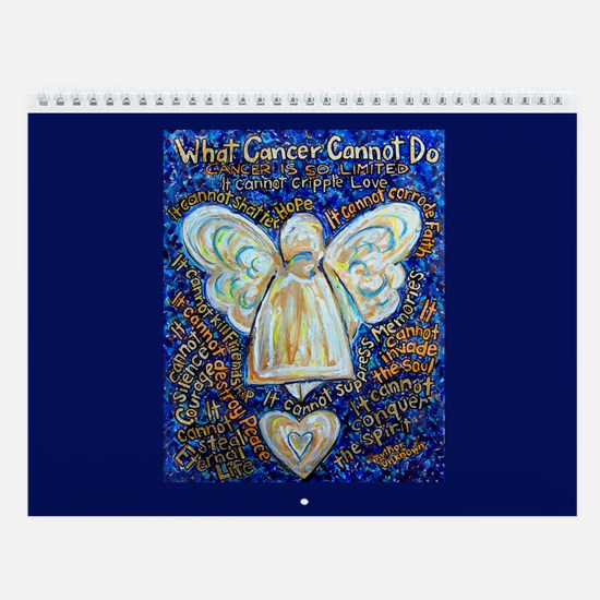 Blue & Gold Cancer Angel Wall Calendar
