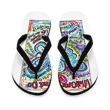 Colorful Cancer Angel Flip Flops