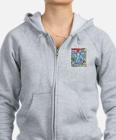Colorful Cancer Angel Zip Hoodie