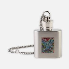 Colorful Cancer Angel Flask Necklace