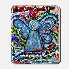 Colorful Cancer Angel Mousepad