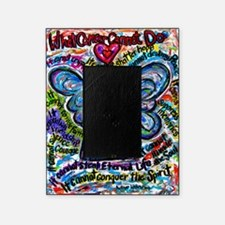 Colorful Cancer Angel Picture Frame