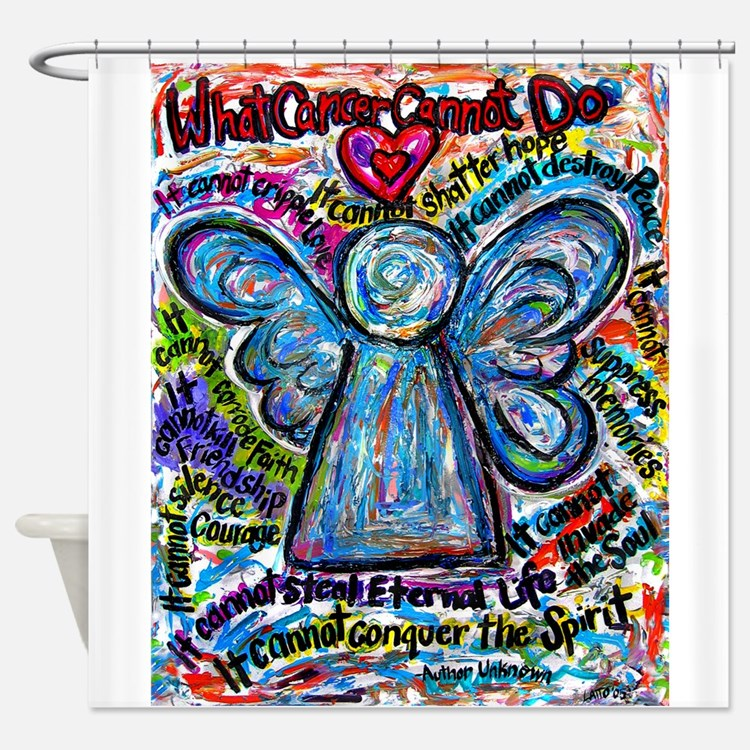 Colorful Cancer Angel Shower Curtain