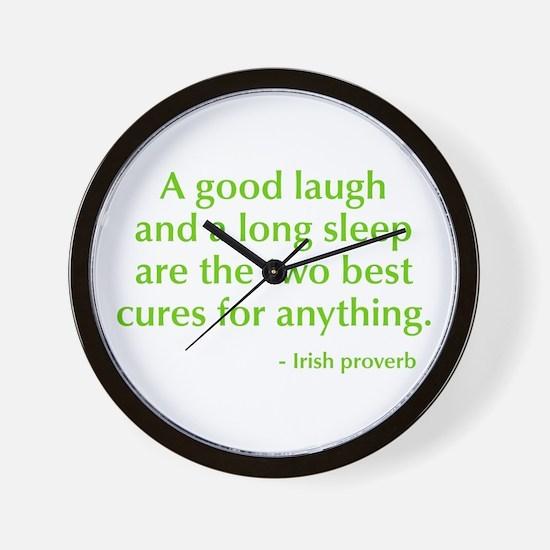 good-laugh-opt-green Wall Clock
