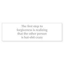first-step-to-forgiveness-opt-gray Bumper Bumper Sticker