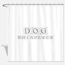 dog-whisperer-kon-gray Shower Curtain