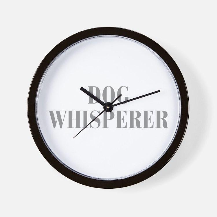 dog-whisperer-bod-gray Wall Clock