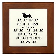 Norfolk Terrier Dad Designs Framed Tile