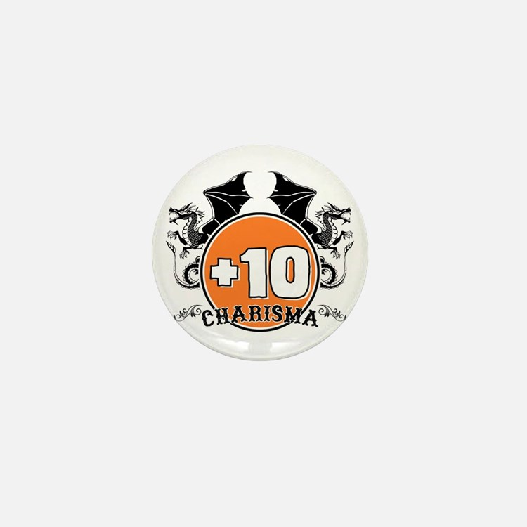 +10 to Charisma Mini Button (10 pack)