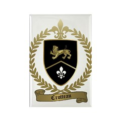 CROTTEAU Family Crest Rectangle Magnet (10 pack)
