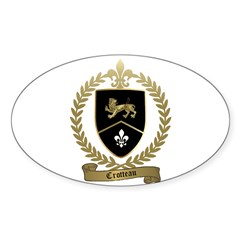 CROTTEAU Family Crest Oval Decal