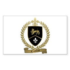 CROTTEAU Family Crest Rectangle Decal
