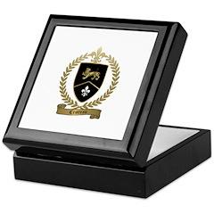 CROTTEAU Family Crest Keepsake Box