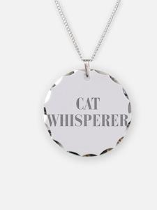 cat-whisperer-bod-gray Necklace