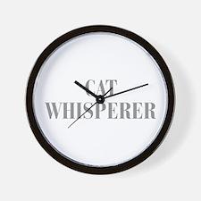 cat-whisperer-bod-gray Wall Clock