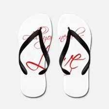 all-you-need-is-love-scr-red Flip Flops