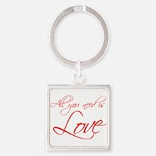 all-you-need-is-love-scr-red Keychains