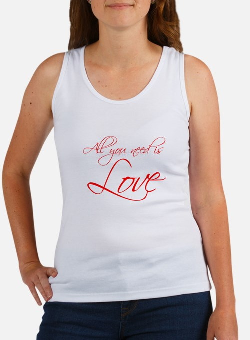 all-you-need-is-love-scr-red Tank Top
