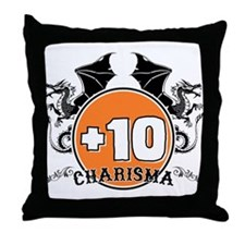 +10 to Charisma Throw Pillow