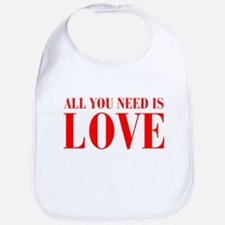 all-you-need-is-love-BOD-RED Bib