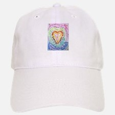 Rainbow Heart Cancer Baseball Baseball Cap