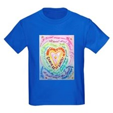 Rainbow Heart Cancer T