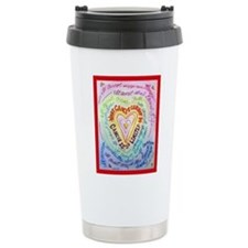 Rainbow Heart Cancer Travel Mug