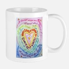 Rainbow Heart Cancer Mug