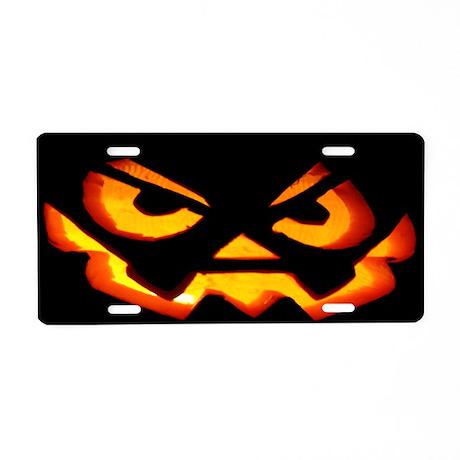 Scary Jack OLantern Aluminum License Plate