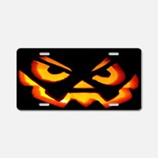 Scary Jack OLantern Aluminum License Plate