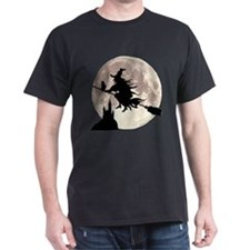 Flying Witch Moon T-Shirt