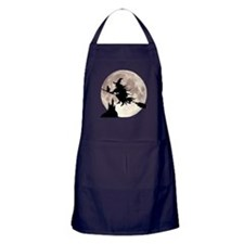 Flying Witch Moon Apron (dark)