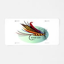 Fish On Aluminum License Plate