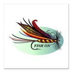 Fish On Square Car Magnet 3