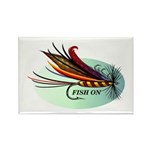 Fish On Rectangle Magnet (10 pack)