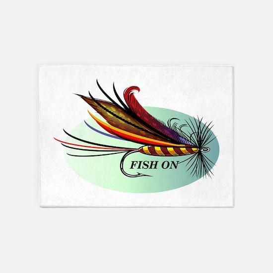 Fish On 5'x7'Area Rug