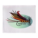 Fish On Throw Blanket