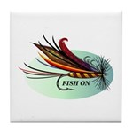 Fish On Tile Coaster
