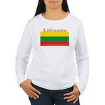 Lithuania Lithuanian Flag Womens Long Sleeve Shirt