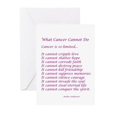 What Cancer Cannot Do Poem Greeting Cards (Pk of 1