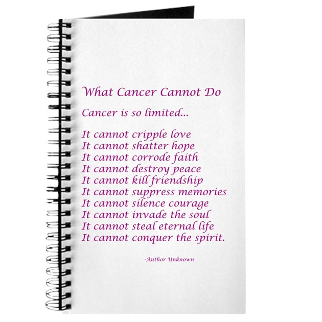 What Cancer Cannot Do Poem Journal By DBAngels