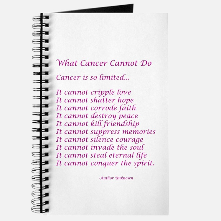 What Cancer Cannot Do Poem Journal