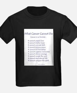 What Cancer Cannot Do Inspirational Cancer Poem T-
